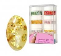 Глитерный гель для дизайна и моделирования Star Nail Glitter - золотистый