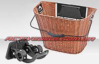 Велокорзина багажная на руль, быстросъёмная JL-CK101 (02905)
