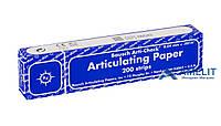 Артикуляционная бумагаБауш, ВК-09 (Bausch), синяя, 200шт./уп.