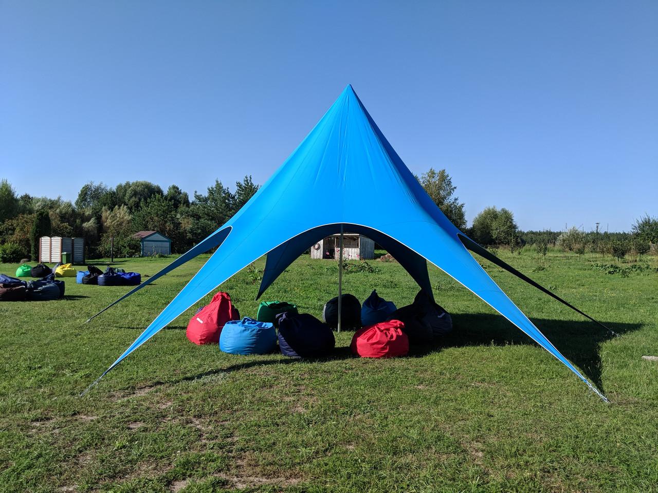 Палатка голубая, Звезда 10 метровая на 20 человек