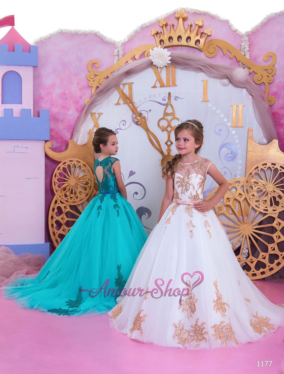 Дитяча випускне плаття на дівчинку 4,5,6,7,8,9,10,11 років (у садок, 4 клас), 1177