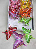Метелики кольорові на прищепках, 12 шт\уп., 65 грн, фото 2