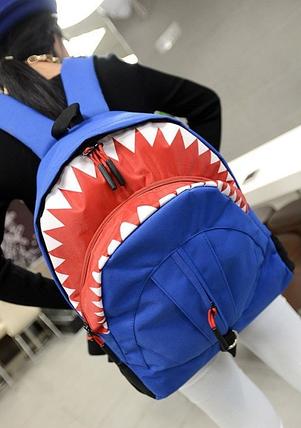 Большой оригинальный рюкзак акула, фото 2