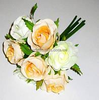 Букет бело-кремовых роз 20 см