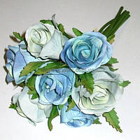 Букет голубых роз 20 см