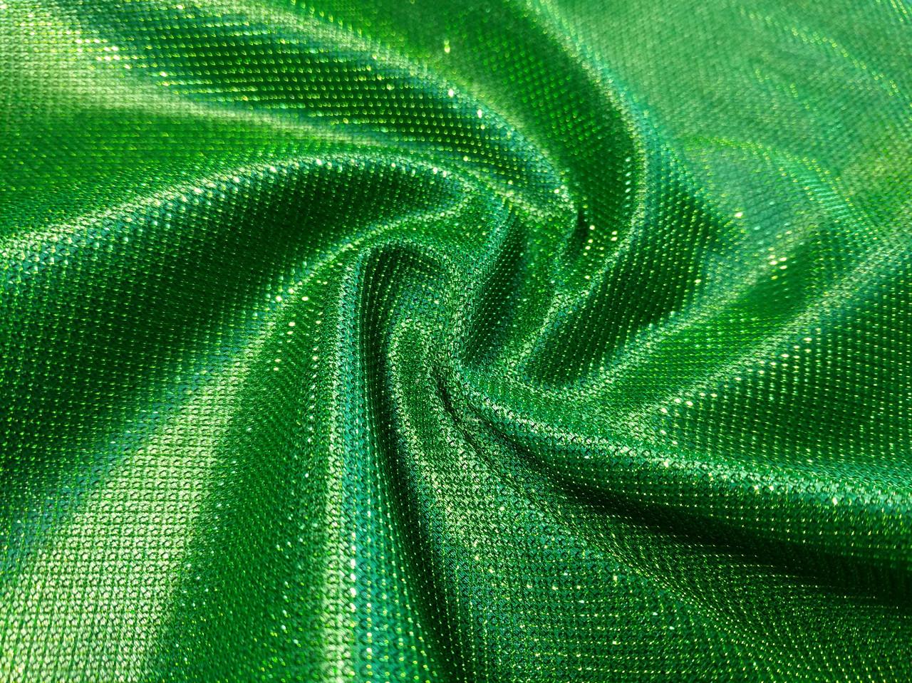 Трикотаж диско чешуя, зеленый