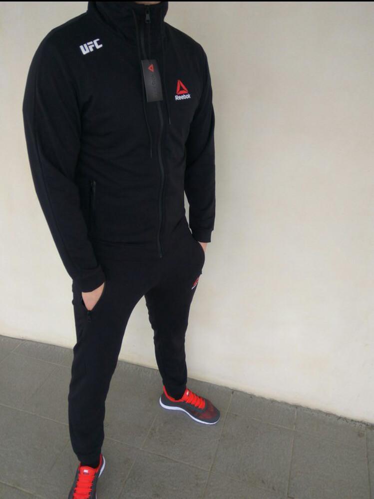 8bf7c8d4bb1e22 Спортивный костюм мужской черный Reebok UFC Рибок - Магазин обуви Go-Go  Shoes в Киеве