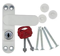 Замок Безопасности Оконный Блокиратор Створки Окна Детский Замок Белый BSL SASH PRIME (Baby Safe Lock)