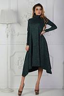 Асимметричное теплое платье