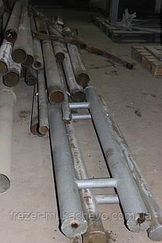 Труба профільна сталева б/у 110х5х2900
