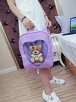 Романтичний рюкзак з прозорим серцем, фото 2