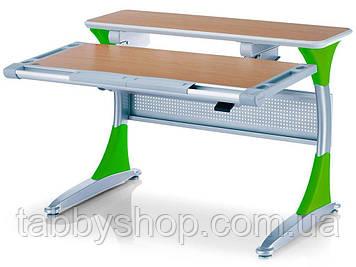 Парта-трансформер MEALUX Harvard BG/Z (столешница бук / накладки зеленые)