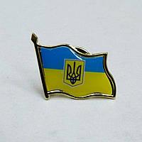 Значок Флаг Украины с гербом , 30*20 мм., фото 1