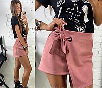 Двубортная юбка из замши, фото 1