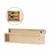 Пенал для кистей деревянный, 35х4,9х3см