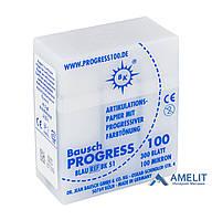 Артикуляційний папір ВК-51 Progress, 100 мкм, синій, 300 аркушів, касета (Bausch), 1 уп.