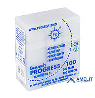 Артикуляционная бумага ВК-51 Progress, 100 мкм, синяя, 300 листов, кассета (Bausch), 1 уп.