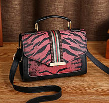 Стильная сумка сундук с тигровым/леопардовым окрасом, фото 2