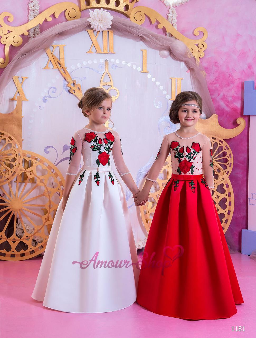 Детское нарядное платье на девочку 4,5,6,7,8,9,10,11лет (выпускной, в садик, 4 класс),  1181