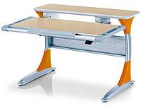 Парта-трансформер MEALUX Harvard MG/Y (столешница клён / накладки оранжевые)