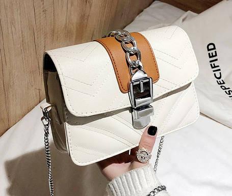 Шикарна сумка скринька з гарним дизайном, фото 2