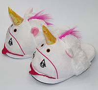 Женские тапочки игрушки Единороги 36-39, тапочки игрушки, тапочки кигуруми, тапочки для дома, тапочки іграшки, тапочки кигуруми, тапочки для дому