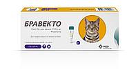 Бравекто Спот-Он (Bravecto Spot-On) для котов и кошек  1,2-2,8 кг (112,5мг), капли от блох и клещей