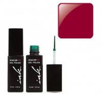 УФ гель-лак Ink с кисточкой для дизайна - темно-красный