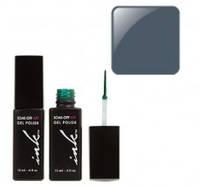 УФ гель-лак Ink с кисточкой для дизайна - темно-серый перл