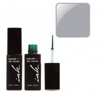 УФ гель-лак Ink с кисточкой для дизайна - светло-серый перл