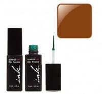 УФ гель-лак Ink с кисточкой для дизайна - коричневый перл