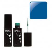 УФ гель-лак Ink с кисточкой для дизайна - индиго синий