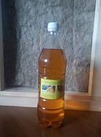 Льняное масло 1 л бутылка с воском для пропитки дерева, фото 1