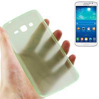 Ультратонкий  чехол 0.3 мм для  Samsung Galaxy Grand 2 / G7102 / G7106. TPU. Зеленый.