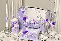Свадебный набор аксессуаров Bonita в Фиолетовом цвете 7 предметов