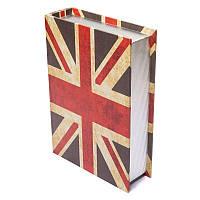 Шкатулка книга BST 490205 20×13×5 см Британский флаг малая