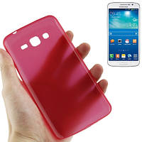 Ультратонкий  чехол 0.3 мм для  Samsung Galaxy Grand 2 / G7102 / G7106. TPU. Красный.