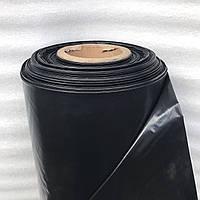 Плёнка чёрная, 140мкм, 3м/100м. полиэтиленовая (для мульчирования, строительная)