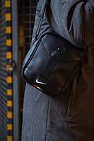 Сумка на плечо, барсетка, мессенджер Найк, стильный, цвет черный, фото 1