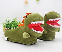 Тапочки-игрушки Динозаврики, 37-40, тапочки игрушки, тапочки кигуруми, тапочки для дома, тапочки іграшки, тапочки кигуруми, тапочки для дому