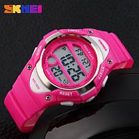 Skmei 1077 розовые детские спортивные часы, фото 1