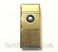 Газова запальничка і електро 2в1 Double / TH705 Золотий