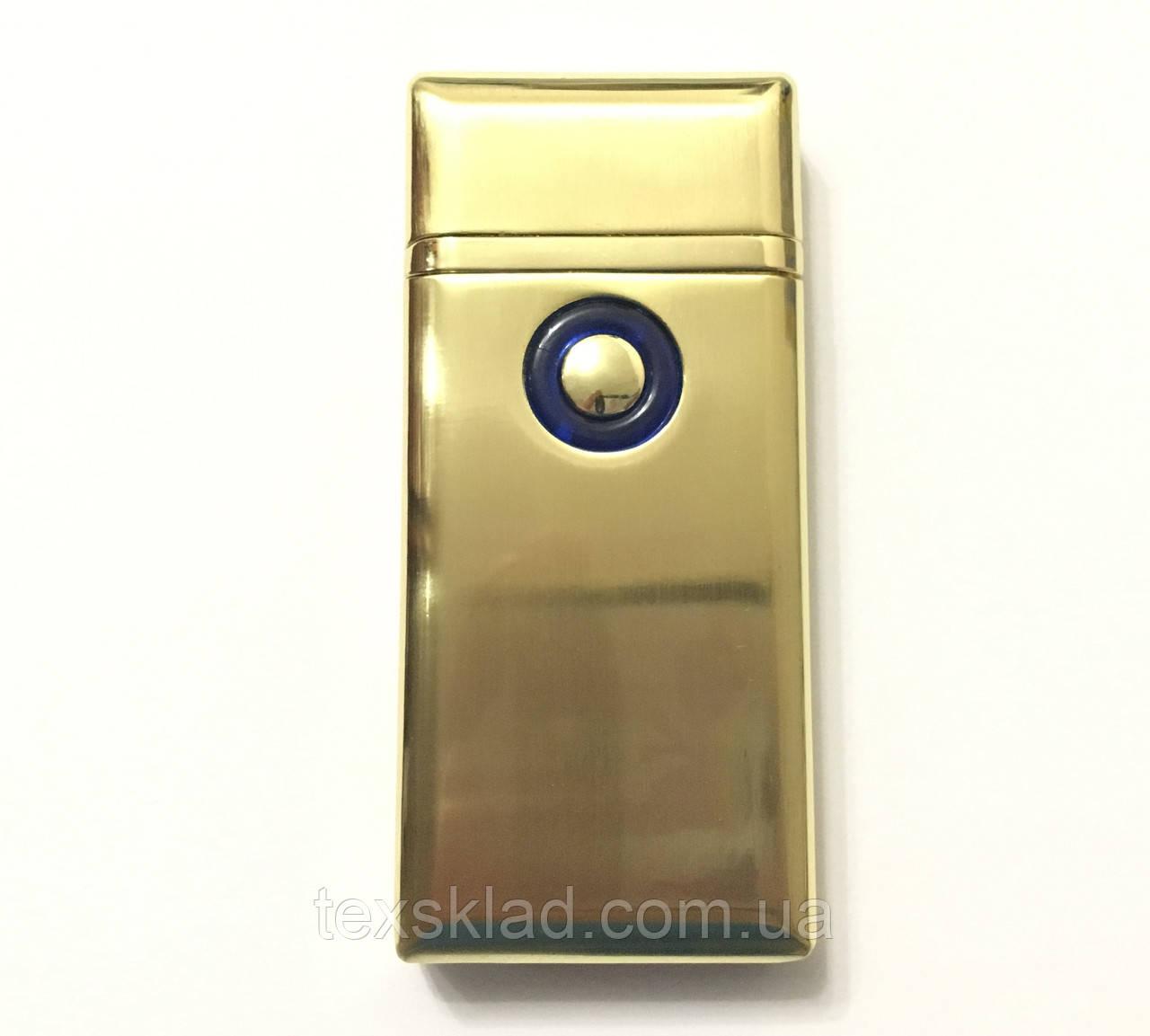 Зажигалка газовая и электро 2в1 Double / TH705 Золотой