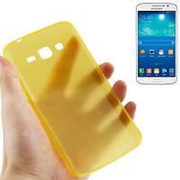 Ультратонкий  чехол 0.3 мм для  Samsung Galaxy Grand 2 / G7102 / G7106. TPU. Желтый.