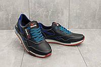 Мужские кроссовки кожаные весна/осень синие-голубые CrosSAV 18, фото 1