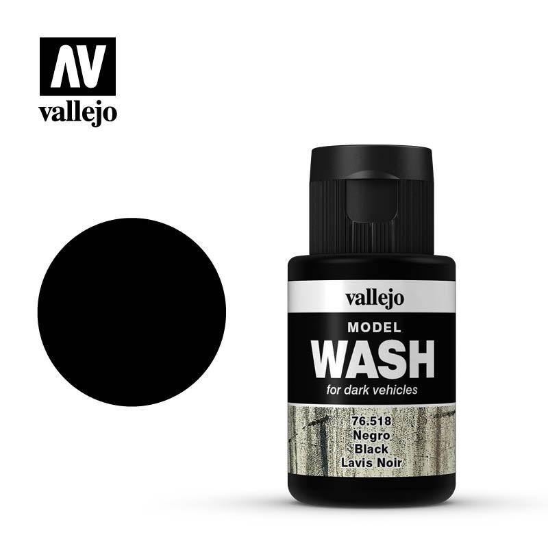 Смывка для сборных моделей черная, 35 мл. VALLEJO 76518