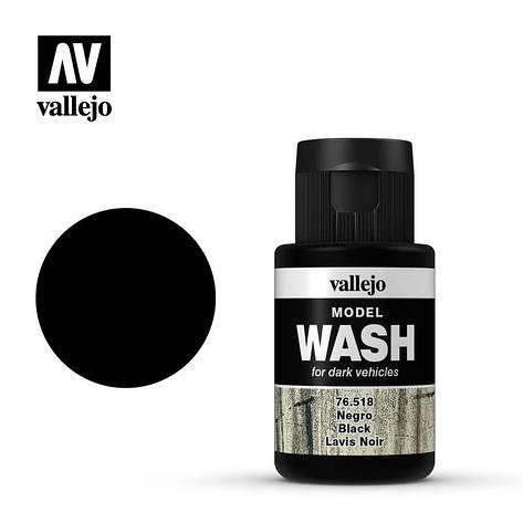 Смывка для сборных моделей черная, 35 мл. VALLEJO 76518, фото 2