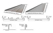 Фальцева покрівля Термастіл , RAL 8017 Італія в матовому покритті 0,5 мм