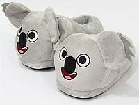 Тапочки-игрушки Коалы, тапочки игрушки, тапочки кигуруми, тапочки для дома, тапочки іграшки, тапочки кигуруми, тапочки для дому