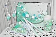 Свадебный набор аксессуаров Bonita в Мятном цвете 7 предметов
